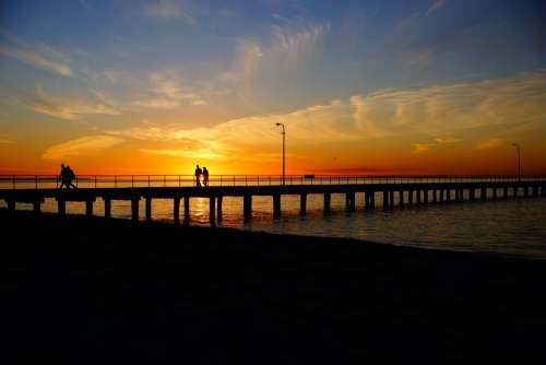 Jetty Pier Sea Water Travel Summer Sky Ocean