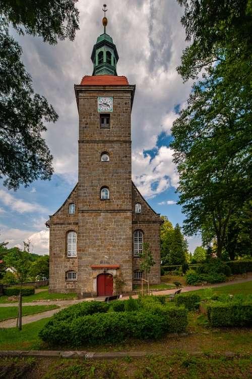 Jonsdorf Saxony Church Germany Architecture