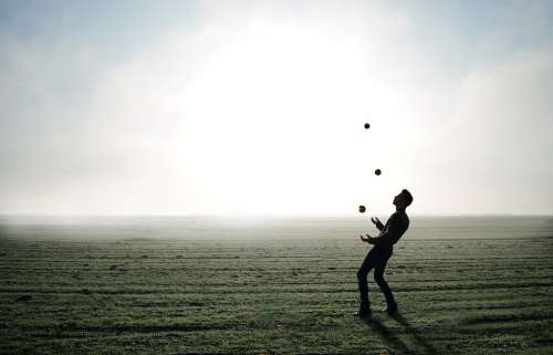Juggler Trick Magician Magic Juggle Balance