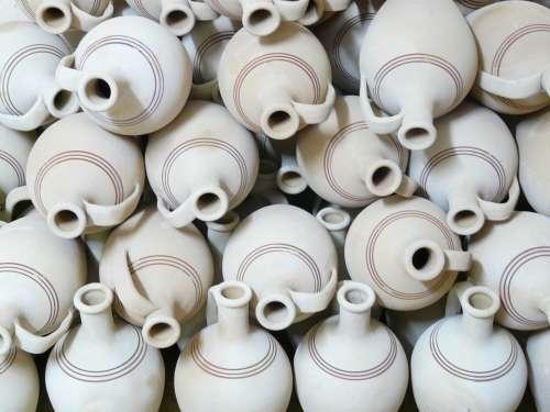 Jugs Pottery Fragile Earthen Material Earthenware