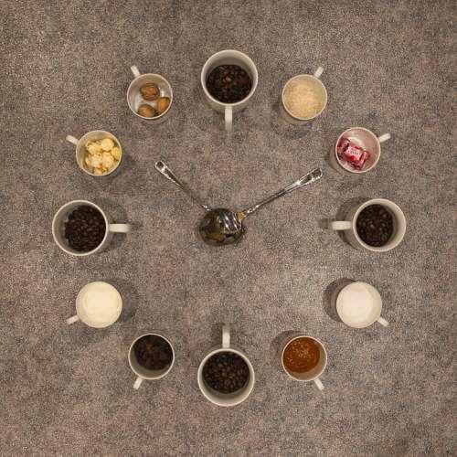 Kaffeeuhr Twelve Favorite Drink Breakfast