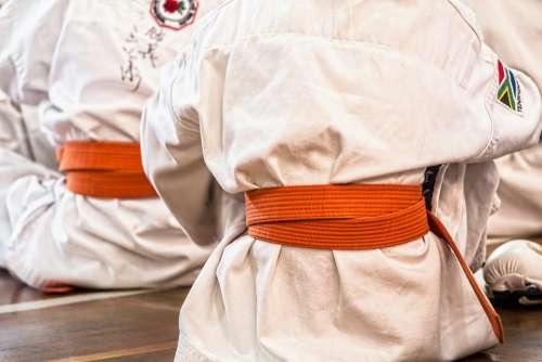 Karate Martial Arts Sport Belt Competition Defense