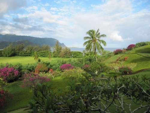 Kauai Hanalei Bay Ocean Pacific Paradise Hawaii