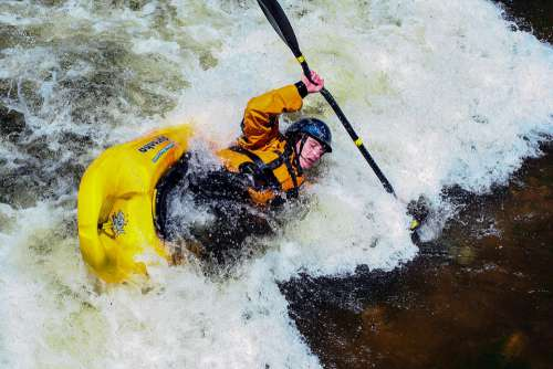Kayak White Water Bear River Wyoming Paddle Water