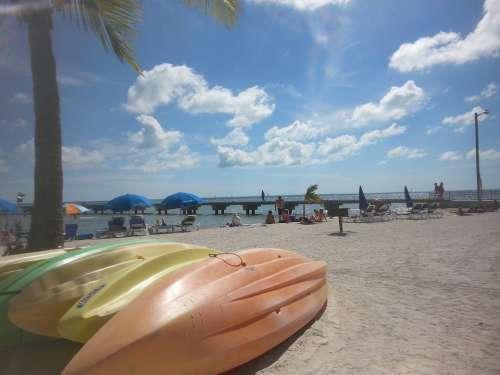 Kayak Key West Boat Beaches Kayaking Island