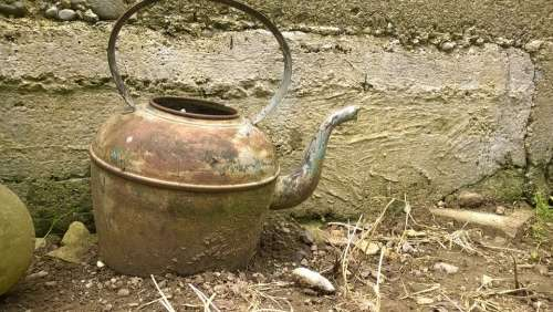 Kettle Old Rusty Traditional Pot Teapot Antique