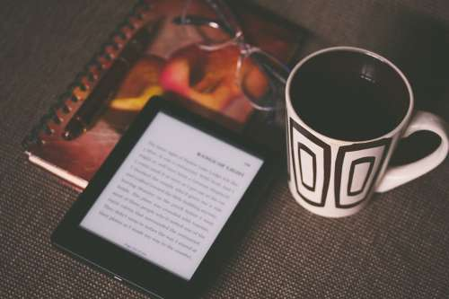 Kindle Ereader Ebook Reading Cup Mug Drink