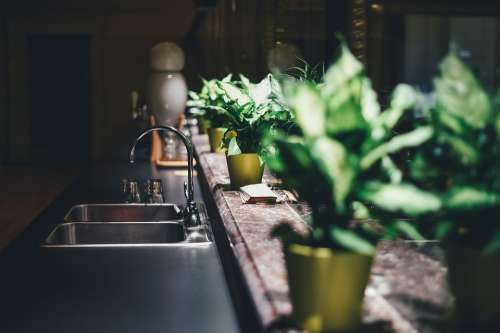 Kitchen Tap Sink Blur Faucet Furniture Home