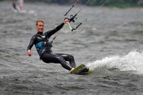 Kitesurfing Water Summer Woman