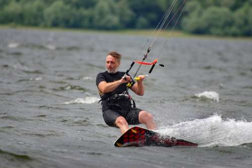 Kitesurfing Water Summer Man