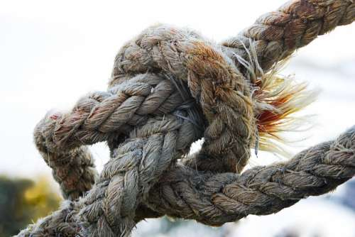 Knot Rope Cordage Close Up Ship Traffic Jams