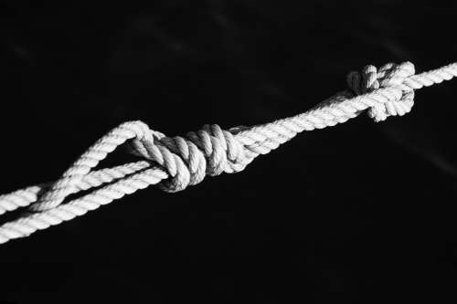 Knot Connection Dew Rope Fixing Old Strand Leash
