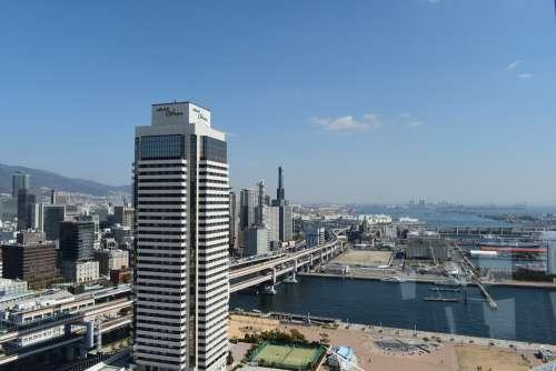 Kobe Japan Kobe Port Tower Kobe Skyline