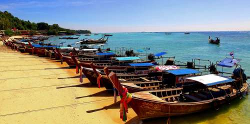 Koh Phi Phi Long Tail Boats Thailand Tours Fishing