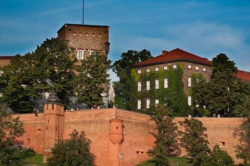 Kraków Wawel Castle Monument Lake Dusia Buildings