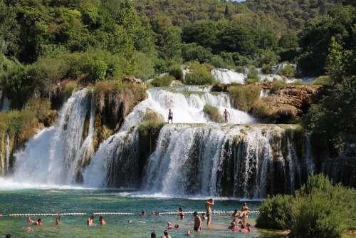 Krka Water Croatia Nature Summer Landscape