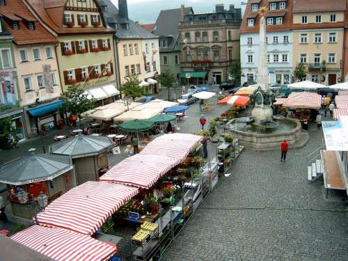 Kulmbach City Market Human Sale Historic Center