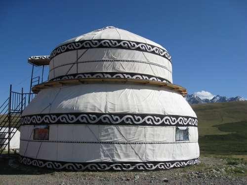 Kyrgyzstan Yurt Mountain Steppe