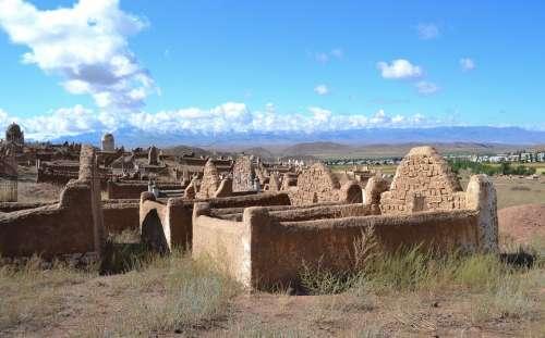Kyrgyzstan Cemetery Muslim Graves