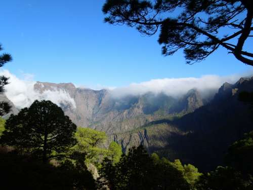 La Palma Nature Canary Islands Hiking Caldera Fog