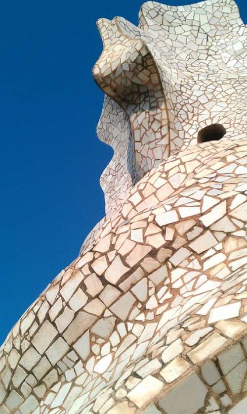 La Pedrera Mosaic Barcelona Gaudí Architecture