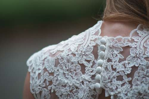 Lace Clothing Woman Shoulder Wedding Gown Bridal