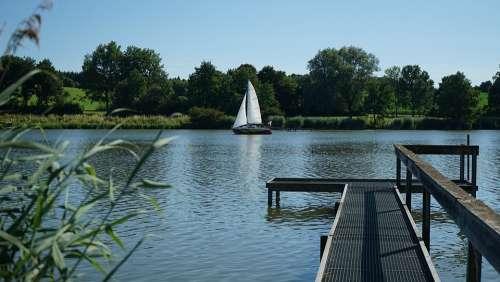 Lake Sailing Vessel Sailing Boat Water Boat Sail