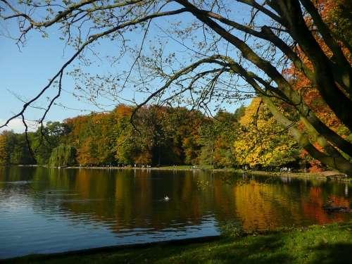 Lake Autumn Fall Nature Water Sky Season