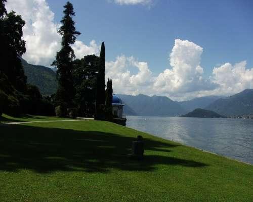 Lake Como Scenic Landscape Italy Europe Mountain