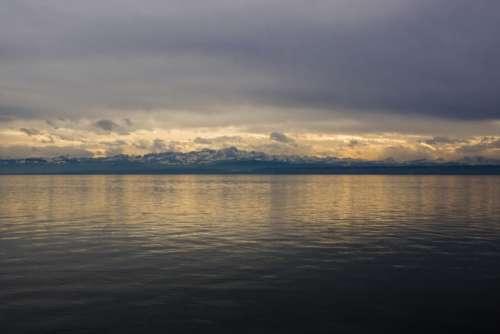 Lake Constance Alpine Alpine Panorama Abendstimmung