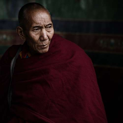 Lama Tibet Monk Old Buddhism Holy Elderly Wisdom