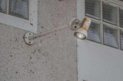 Lamp Courtyard Lamp Old Rust Rusted Metal
