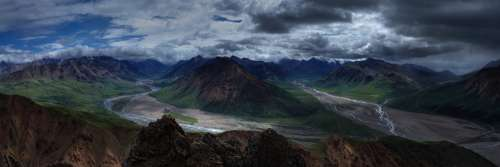 Landscape Mountains Wilderness Panorama