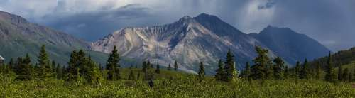 Landscape Scenic Porphyry Mountain Scenery Rugged