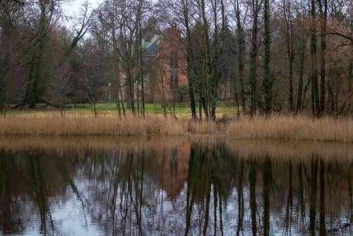 Landscape Church Reflection Architecture Winter