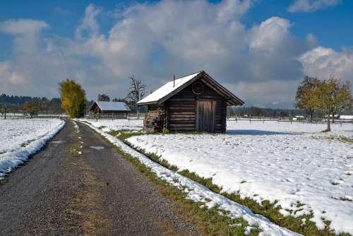 Landscape Snow Winter Clouds Scenic White Nature