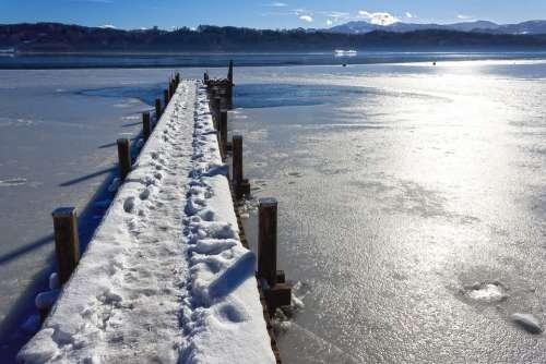 Landscape Winter Web Alpine Hair Dryer Snow Lake