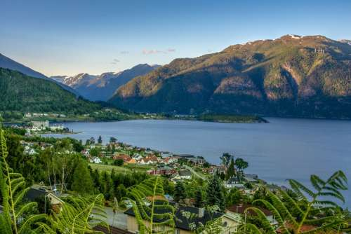 Landscape Mountains Nature Heaven Fjord Water