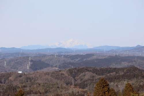 Landscape Japan Winter Mountain Sky