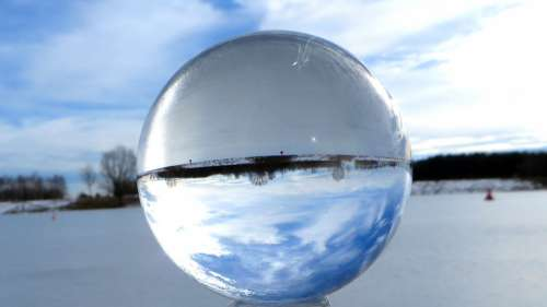 Landscape Ball Sky Nature Mirroring Crystal Ball