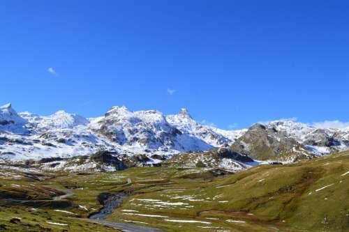 Landscape Mountains Hiking Nature Alps
