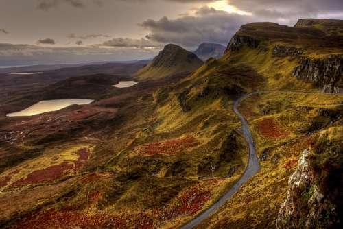 Landscape Nature Mountains Road England Scotland