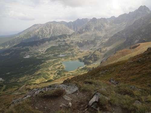 Landscape Mountains View Distance Poland