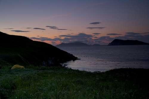 Landscape Dusk Silhouette Sunset Twilight Water