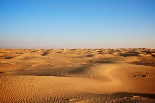 Landscape Desert Clear Viewsand Yellow Dry Hot