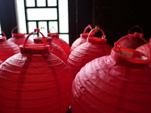 Lantern Red China Traditions Decoration Lampion