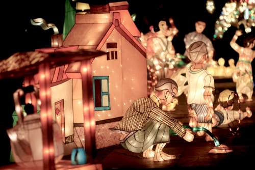 Lantern Children'S Night Light Night View Home