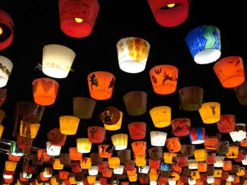 Lanterns Lights Christmas Lausanne Place Bel-Air