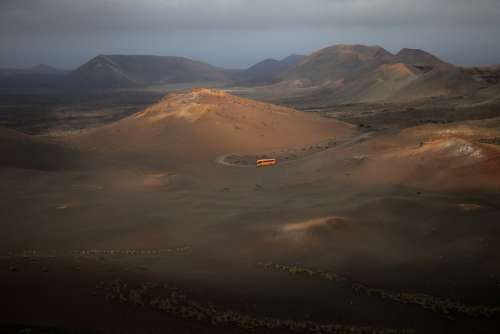 Lanzerote Volcanic Landscape Mountains Nature