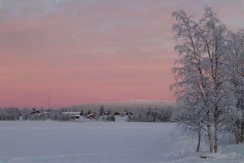Lapland Snow Polar Night